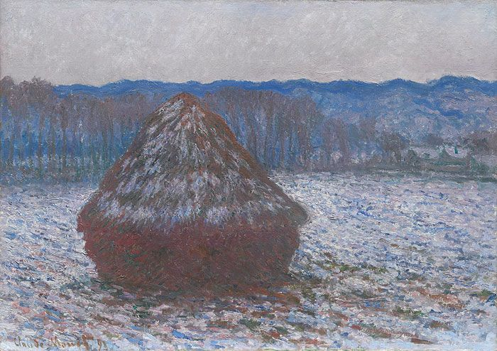 Claude Monet, French, Stack of Wheat, 1890/91 Oil on canvas, The Art Institute of Chicago (Image No. 00000075-01)