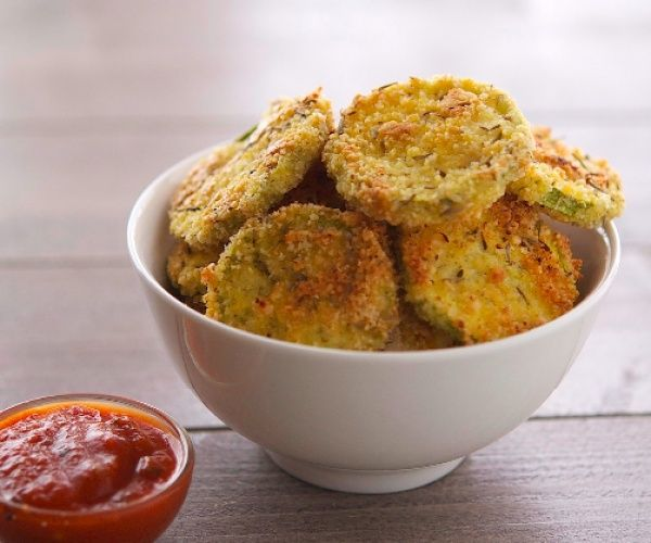 Almond Crusted Baked Zucchini Chips are an incredibly crunchy, flavorful and easy to make snack