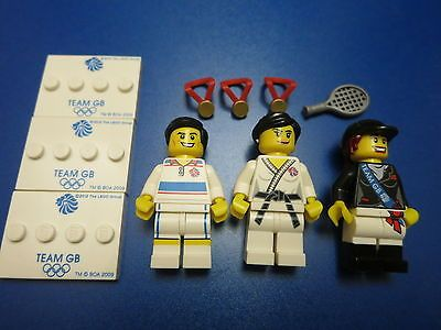 Lego Team GB Olympic Minifigure Horseback Rider Tennis Player Judo Fighter 8909
