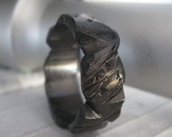 Items similar to Mens Black Wedding Band Carved Sterling Silver Black Rhodium 5mm Hand Carved Texture Artisan Wedding Ring or Unique Commitment Ring on Etsy