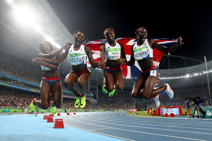 Asha Philip, Desiree Henry, Dina Asher-Smith and Daryll Neita