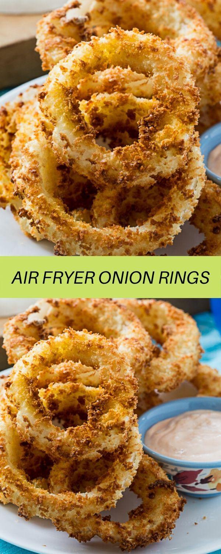 AIR FRYER ONION RINGS in 2020 Onion rings, Appetizer
