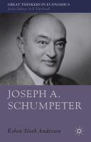 Joseph A. Schumpeter : a theory of social and economic evolution / Esben Sloth Andersen  Andersen, Esben Sloth.  Basingstoke : Palgrave Macmillan, 2011.  http://encore.lib.gla.ac.uk/iii/encore/record/C__Rb2926775?lang=eng