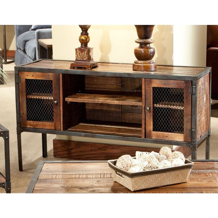 Wood And Metal Console Part - 46: Laramie Reclaimed Wood Sofa Table   Overstock™ Would Work To Home Tv  Components