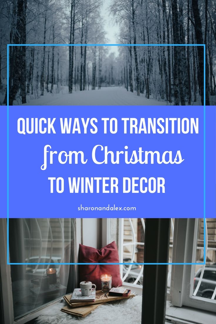From September to the beginning of the year I have some kind of decor theme working. Once the Christmas decorations start to come down the house starts to feel barren and sad. Here are some quick tips for making the transition from Christmas to more of a wintery decor to keep the good vibes going a little longer. via @sharonandalex