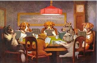 Book club: Dogs Book, Reading Book, Aka Dogs, Night Book, Book Clubs, Thursday Night, Dogs Reading, Smart Doggie, Book Club Dreamdogsart