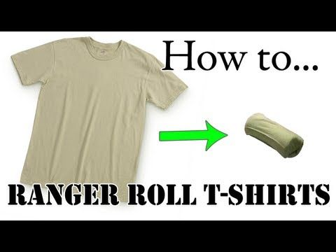 Travel Tips: How to Ranger Roll Army Tan T-Shirt, Basic Training Style - The Best Tutorial - YouTube