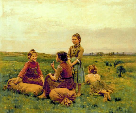 Four Happy Girls
