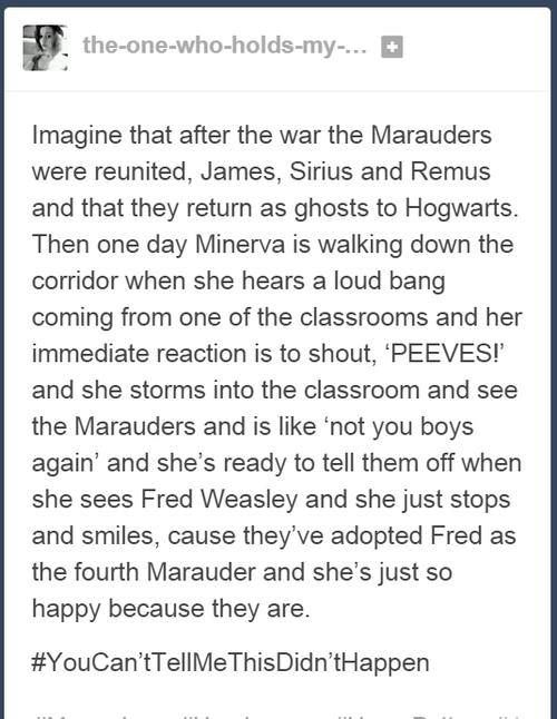NO. Just NO. I LOVE this, but I can't be okay with them coming back AFTER Harry leaves.