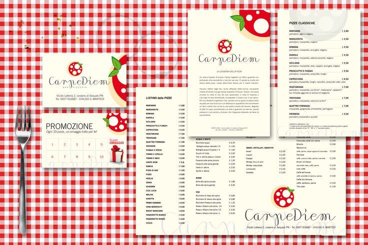 coordinati pizzeria graphics corporate image