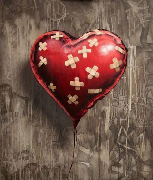 Favourite Banksy piece. A true representation of real love = A Healing Heart #Banksy #Art #Heart