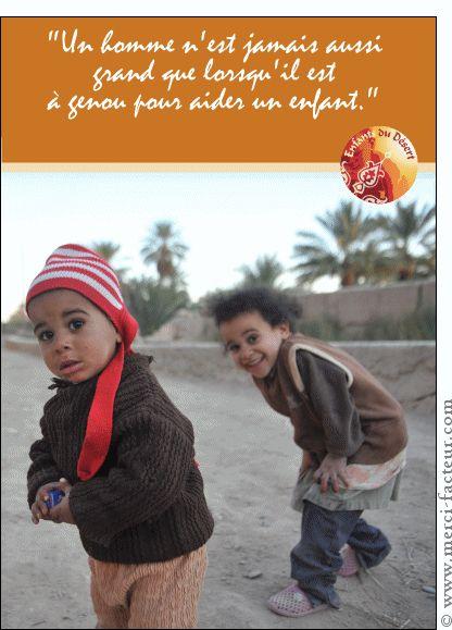 Carte Aider un enfant pour envoyer par La Poste, sur Merci-Facteur !