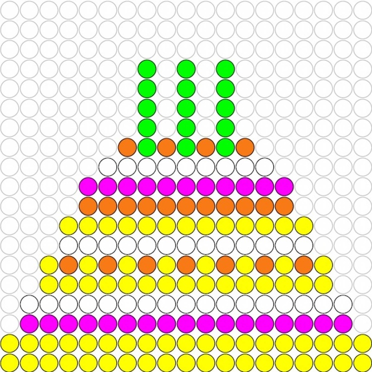 Kralenplank Verjaardagstaart 2