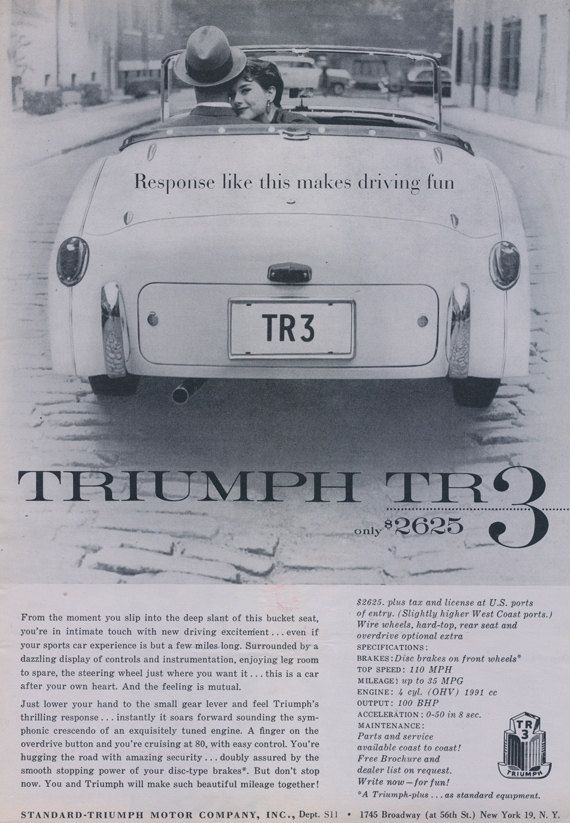 13 Best Triumph Car Ads Images On Pinterest Triumph Car Vintage