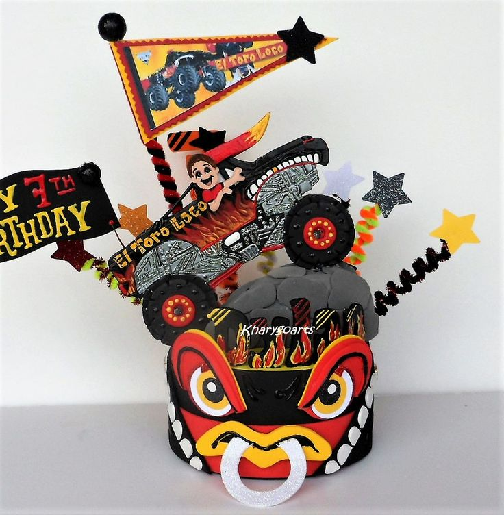 Jennifer Monje says: Oh my goodness....it came out so great! Thank you! :)  My son will be so excited on his birthday!! #monstertruck #monsterjam #birthdaycaketoppers #kharygoarts
