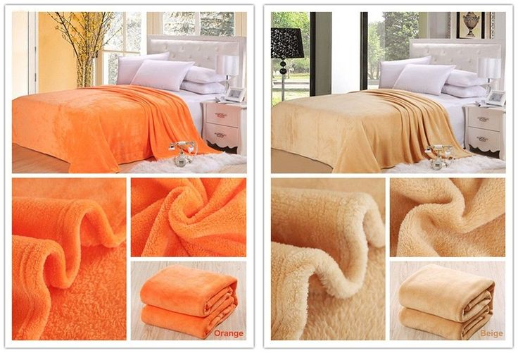 Coral Flannel Blanket Bed Sheet Soft Cottony Microfiber Fabric Knitted Blanket #Unbranded #Plain