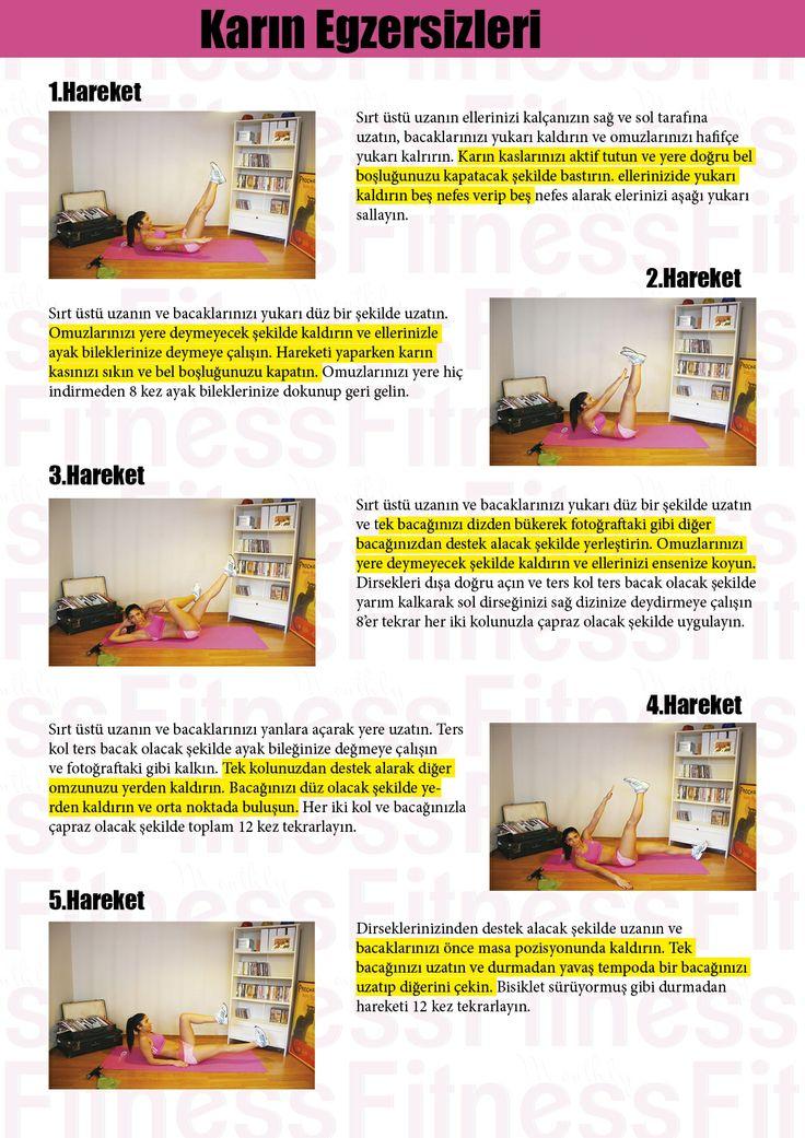 Monthly Fitness la Evde yapabileceğiniz Karın Egzersizleri programı.. www.monthlyfitness.com