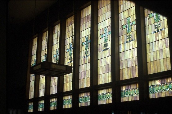 Merchant S National Bank Stained Glass Lobby Window From