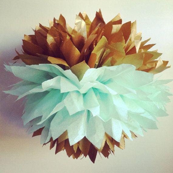 The Original Gold Dipped Tissue Paper Pom Pom by SimplyNesting