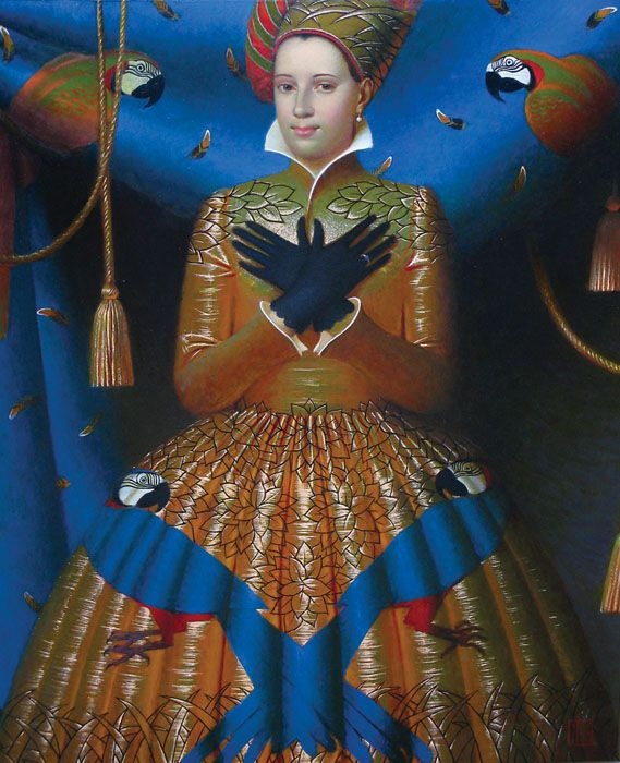 """Ornithology""                                           Andrey Remnev, 2010    Oil on canvas."