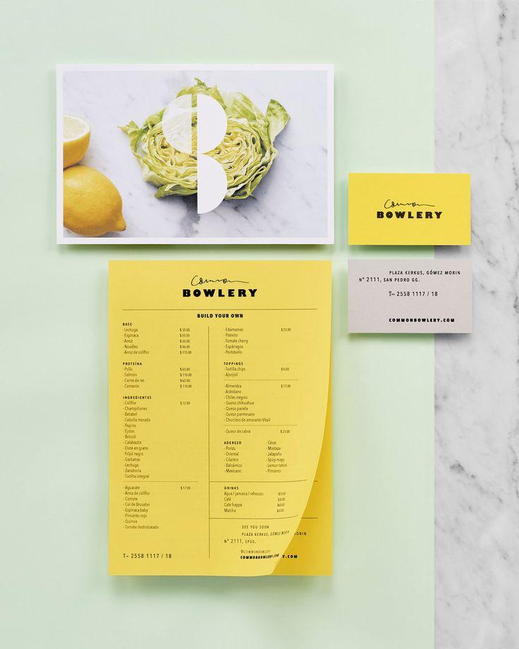 Common Bowlery by La Tortilleria. #branding #menu #stationery