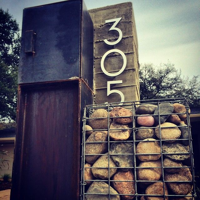 Our super cool custom mailbox one step from... - Native Edge Landscape