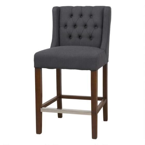 Earhart Counter Stool -Quin Grey