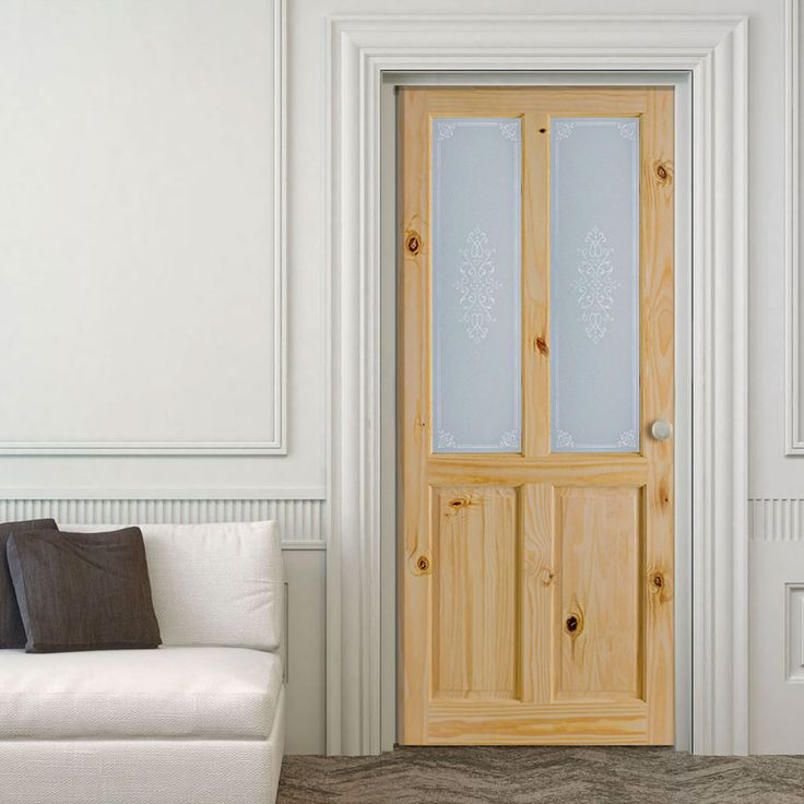 richmond knotty pine door with campion safety glass - Interior Doors With Glass