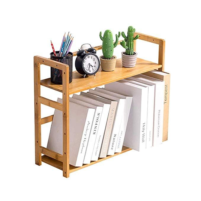 Amazon Com Wertf Bookshelf Table Small Bookshelf Creative Students Mini Telescopic Small Desk Storage Rack Small Bookshelf Solid Wood Bookshelf Small Shelves