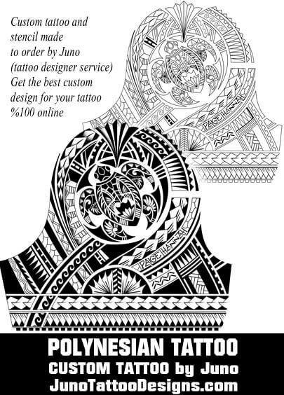Custom Maori Tattoo Designs: Polynesian Turtle Tattoo, Juno Tattoo Designs, Custom