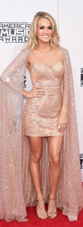 AMAs 2015 Carrie Underwood: Dress – Elie Madi  Shoes – Greymer  Earrings – Kimberley McDonald  rings – Kimberly McDonald and Anne Sisteron