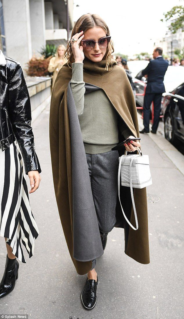 Woodland chic: Olivia Palermo was also in attendance, looking like she'd stepped straight out of The Lord Of The Rings