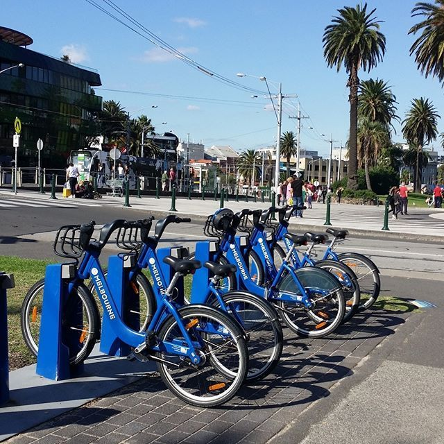 Time to hit the road! #MelbourneBikeShare is the way to go. #gettingaround #melbourne #tourist #fitnessfun #bicycle #cycling #explore #touring #lunapark #stkilda #thingtodoinmelbourne