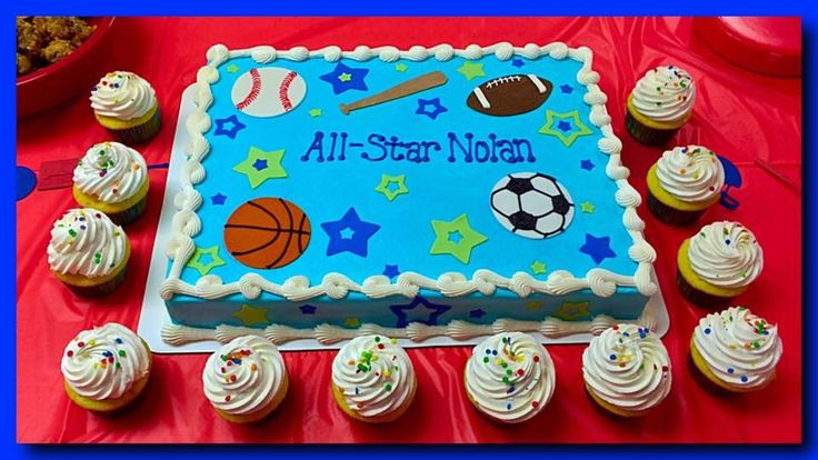 Sports Themed Sheet Cake The Great Cakery Pinterest