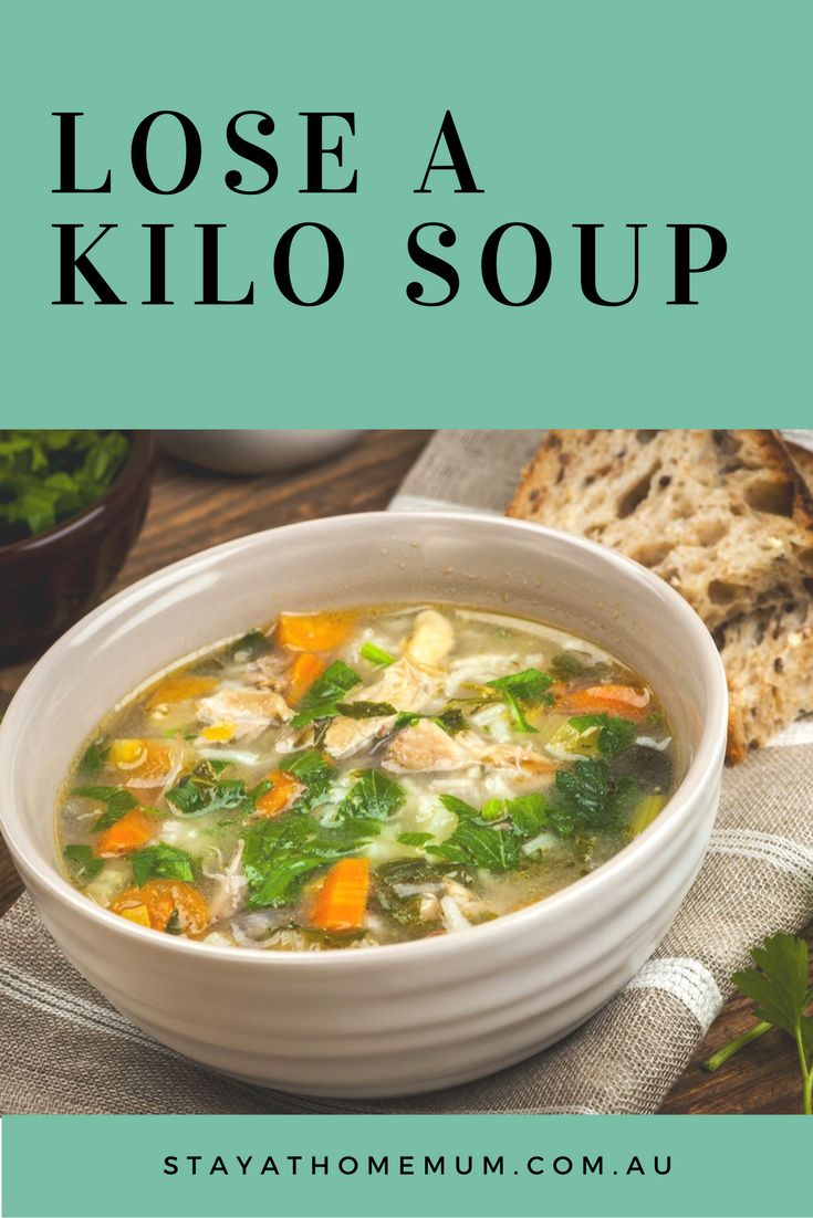 Lose a Kilo Soup is filling, delicious and healthy, with the added benefit it helps you shed a kilo if eaten regularly!