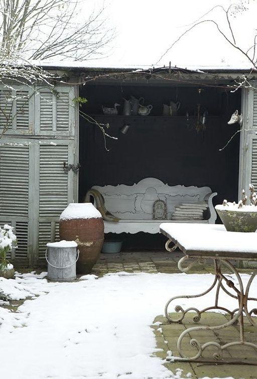winter doorstep decor - Google Search