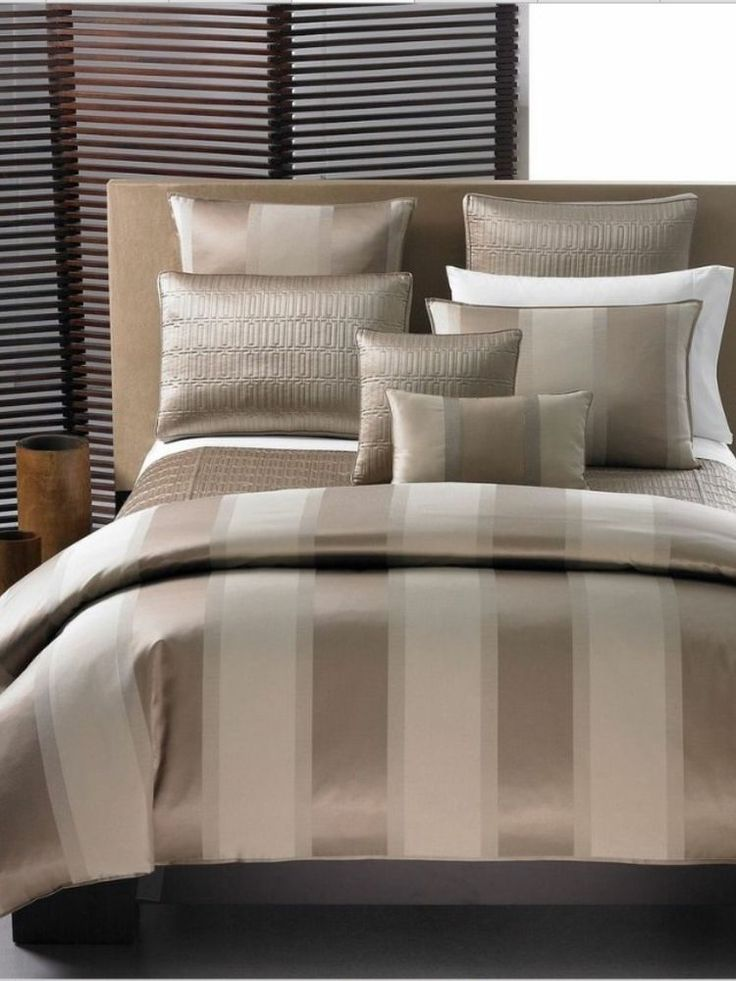 Bronze Stripe Hotel Collection KING Duvet - $340 Buy it here for $99