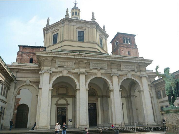 Basilica of San Lorenzo in Milan (Italy) | Milan italy ...