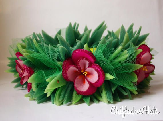 Moana Flower Crown completely made to measure for a perfect fit on the head. Made of foam, completely resistant, durable.