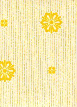 Lisää keltaista ja vähän pientä kukkakuviota?