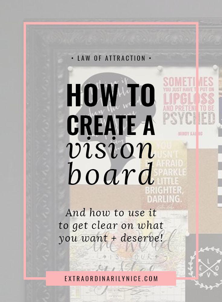 Five Steps To Create A Vision Board via @extraniceblog