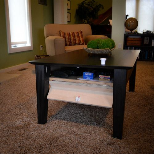 Coffee Table  Craftsman, #guncabinet #table #craftsman #HiddenCompartment # Secret #