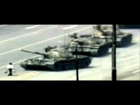Video of tank man by Poetry Against War