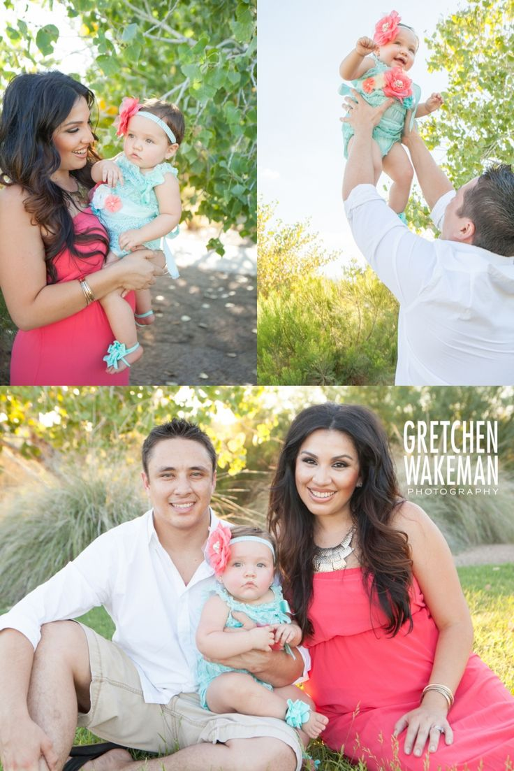 Great Colors for Family Photos! One Year Old Photo Shoot  / Family Photography