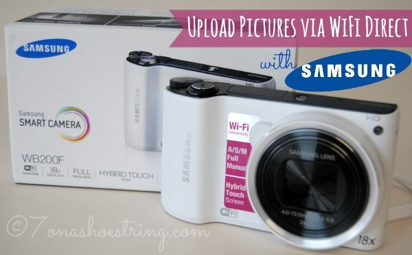 Upload Pictures via WiFi Direct with Samsung WB200 #SocialCamera #CBias