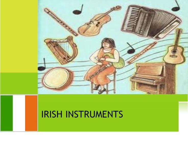 Irish instruments via Slideshare