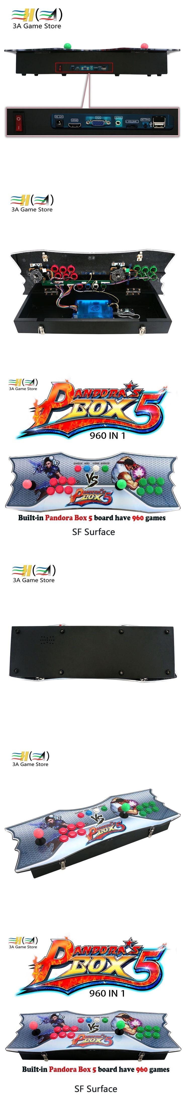 Pandora's box 5 960 in 1 console usb arcade joystick arcade controller zero delay kit 960 games joysticks For pandora box 5