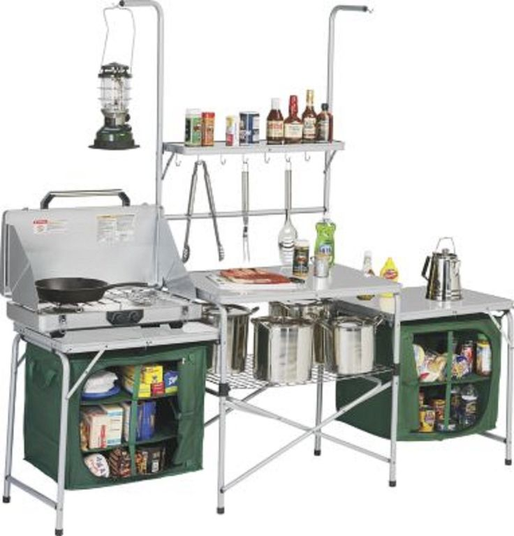 camp kitchen table folding portable food prep cooking camping ...