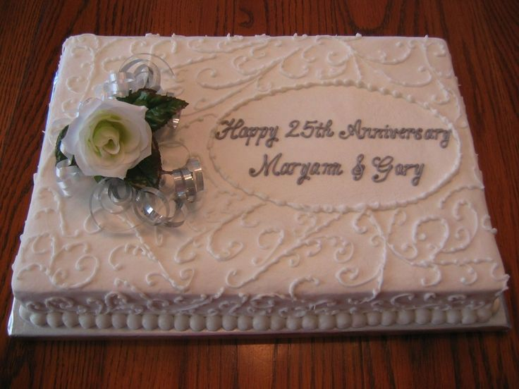 Design Of Cake For Anniversary : anniversary sheet cakes 25th Anniversary Cake ...