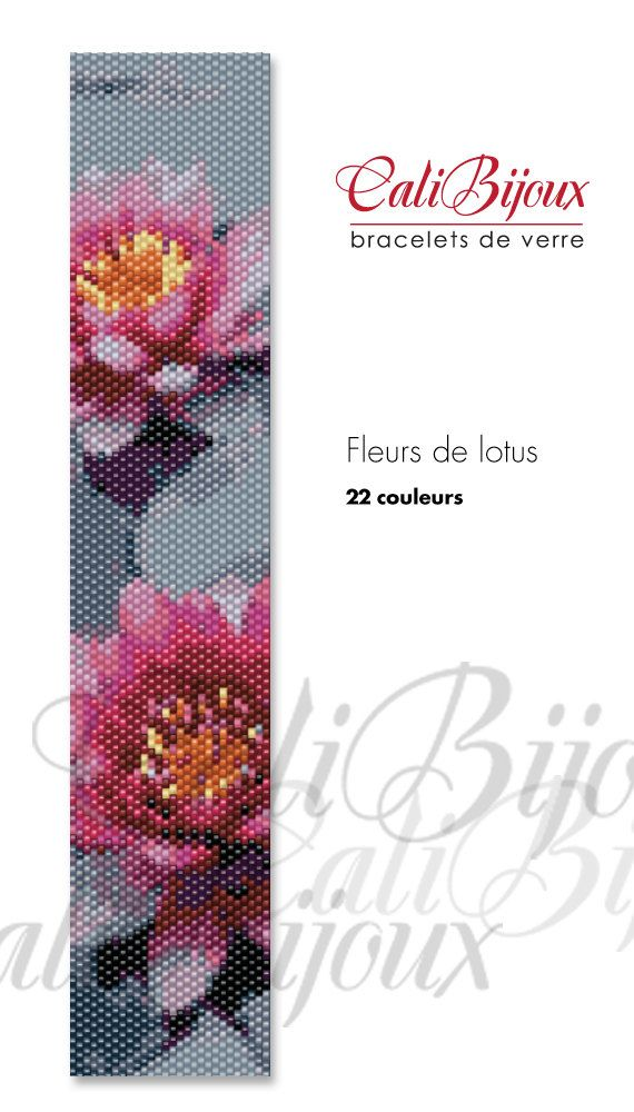 PATRON Fleurs de lotus PATTERN by CALIBIJOUX on Etsy, $10.00